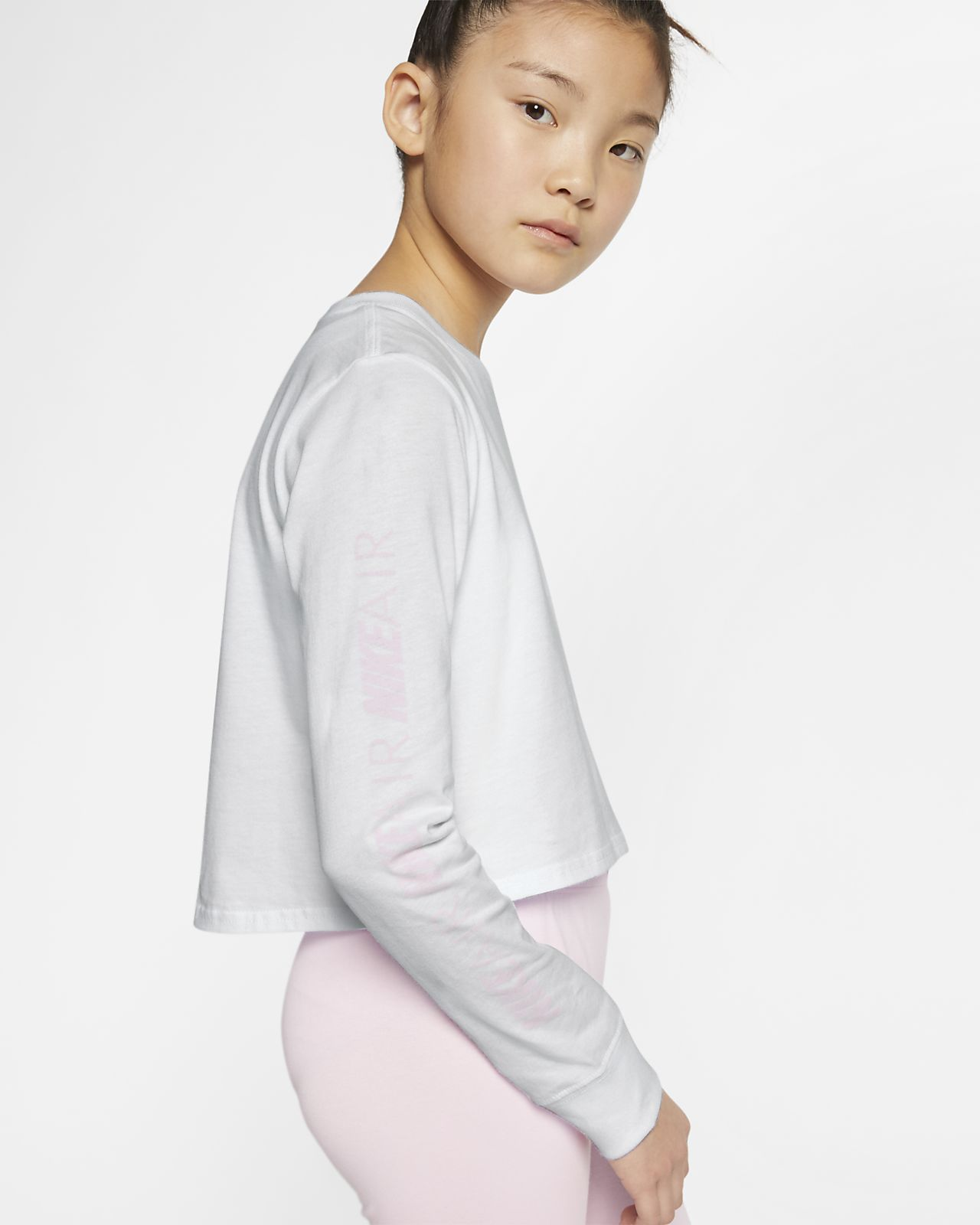 6ef6f05b Nike Air Older Kids' (Girls') Long-Sleeve Crop Top. Nike.com CZ