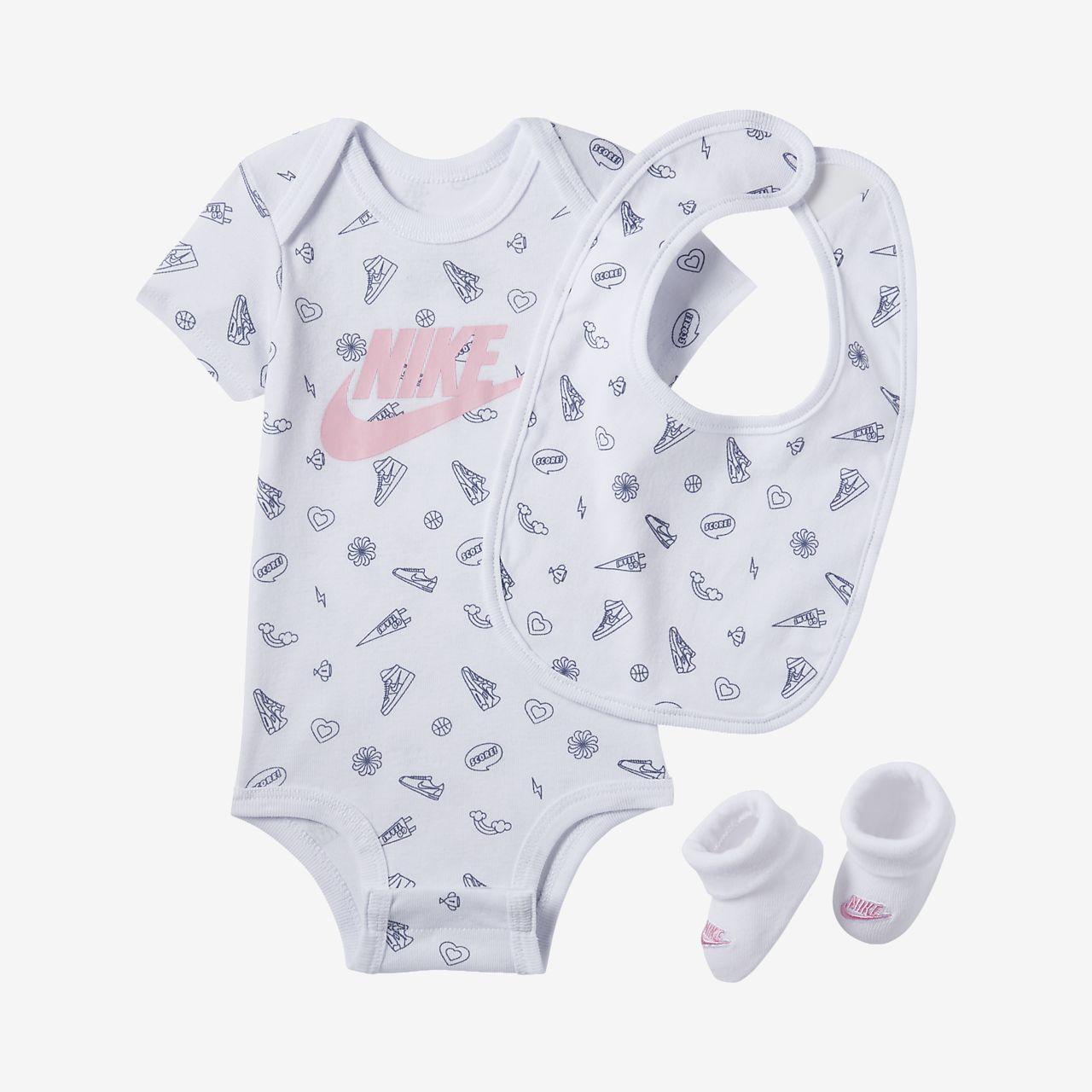 Tredelat set med tryck Nike för baby