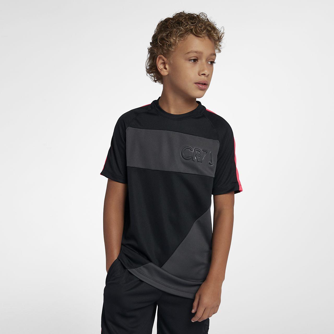 Nike Dri-FIT CR7 Big Kids' (Boys') Short-Sleeve Soccer Top