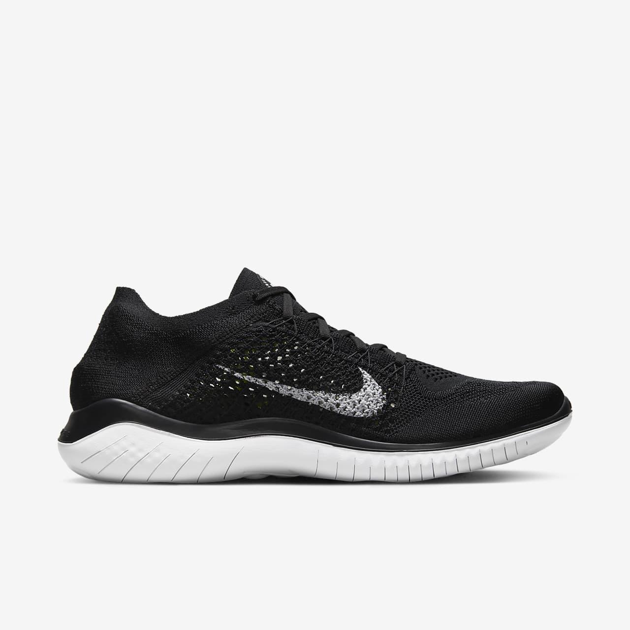 Nike Free RN 2018 Herren Laufschuhe schwarz QQwzznHK