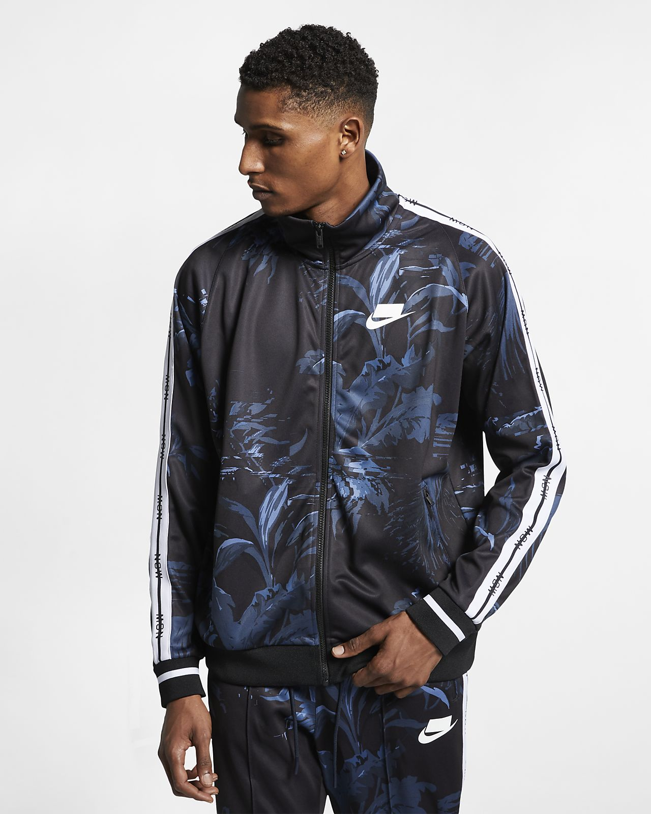 ea1aa758926 Nike Sportswear NSW  Palm Tree  Men s Foldable Collar Track Jacket ...