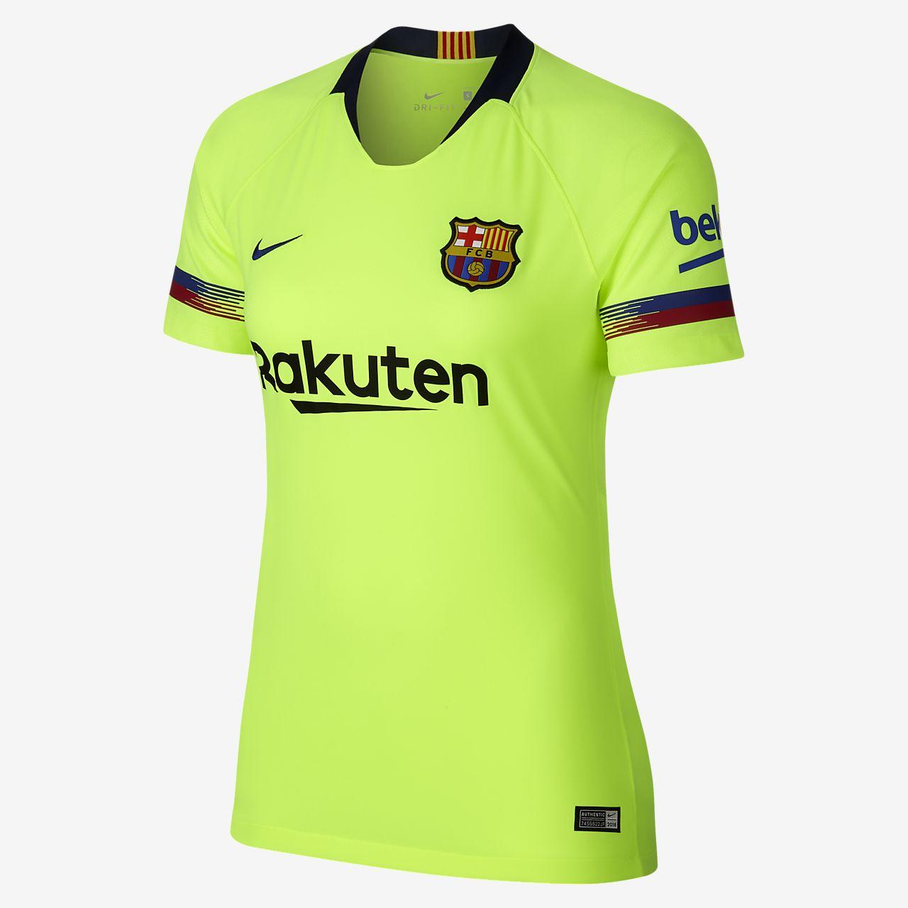 62e3554cf92fc Camiseta de fútbol para mujer 2018 19 FC Barcelona Stadium Away ...