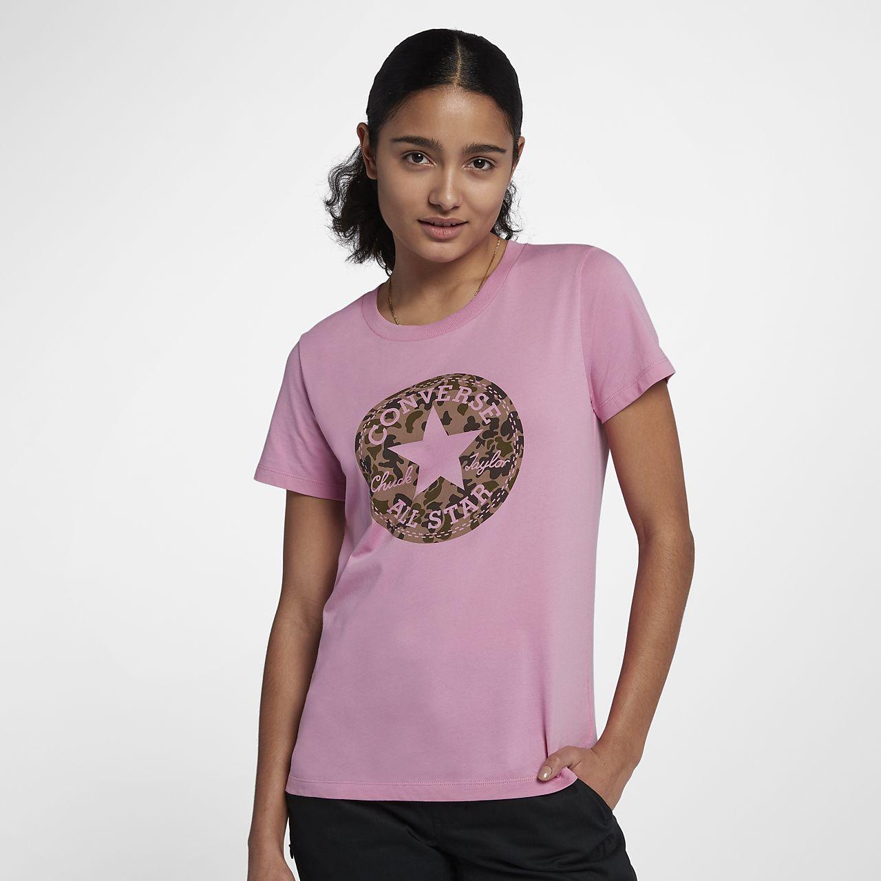 Converse Chuck Patch Women's T-Shirts Magenta