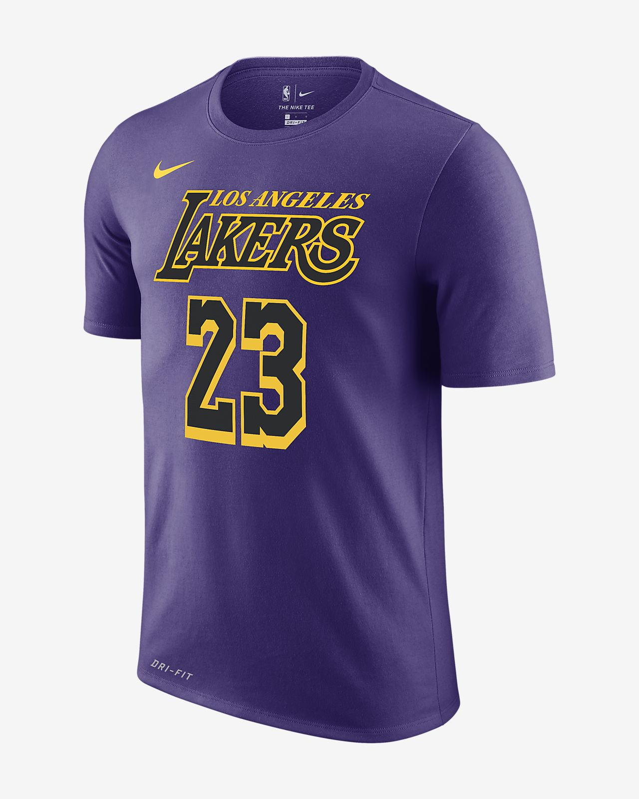 Tee-shirt NBA LeBron James Los Angeles Lakers City Edition Nike Dri-FIT pour Homme