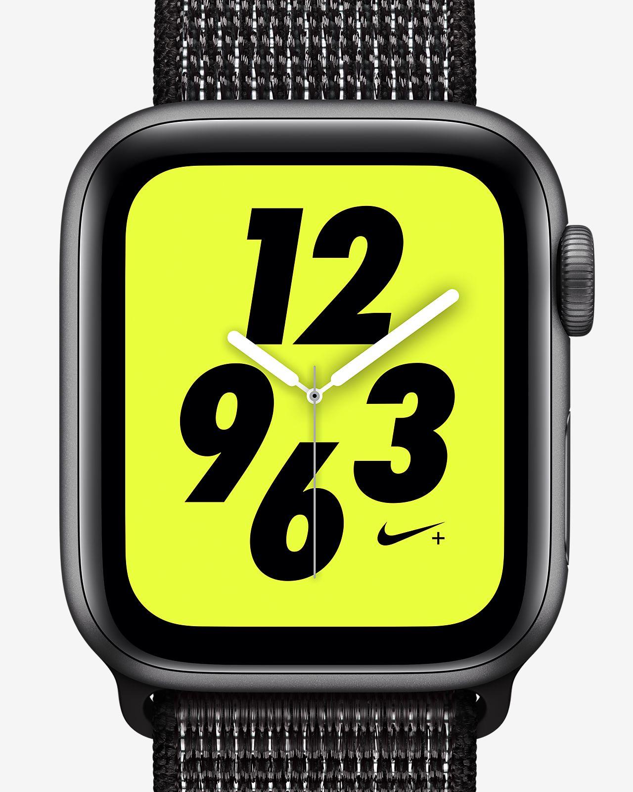 Apple Watch Nike+ Series 4 (GPS + Mobilfunk) mit Nike Sport Loop 40-mm-Sportuhr