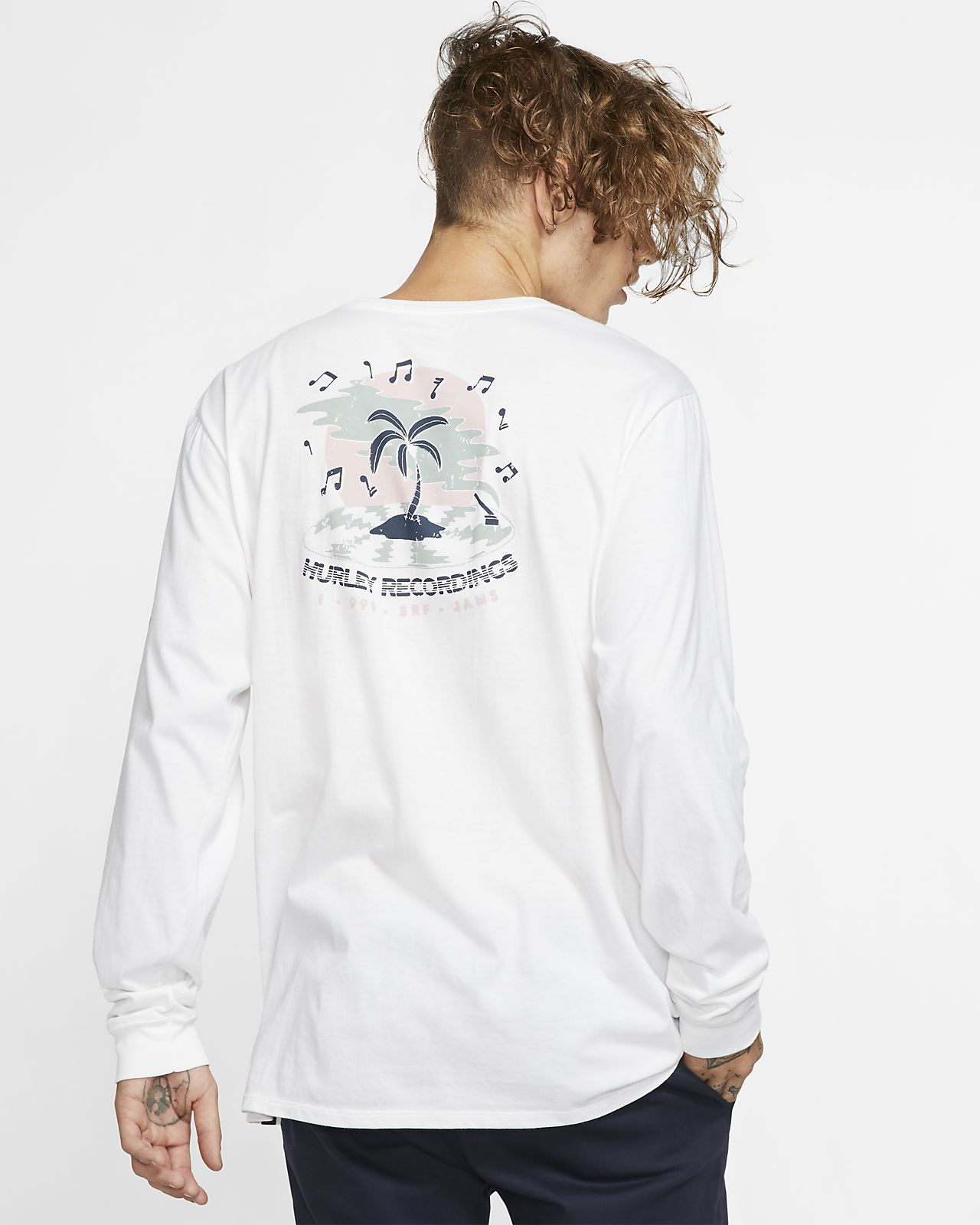 Hurley Premium Record Palms Men's Long-Sleeve T-Shirt