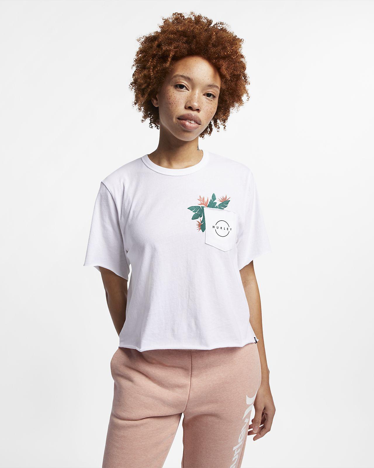 Женская укороченная футболка Hurley Hanoi Pocket