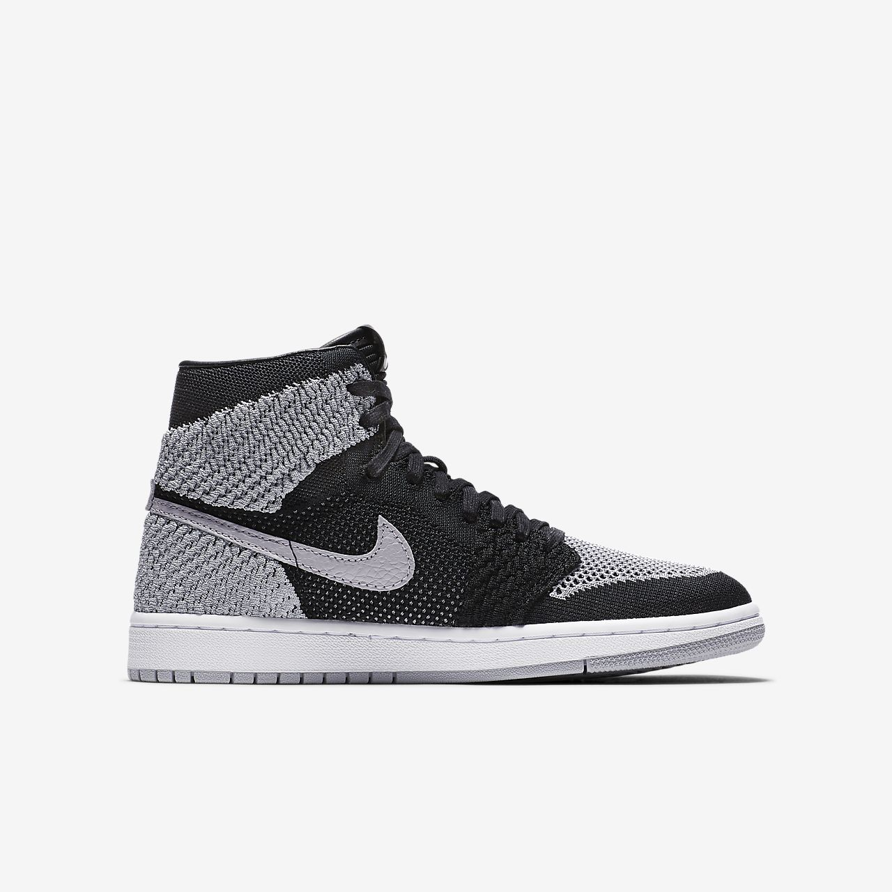 ... Air Jordan 1 Retro High Flyknit Big Kids' Shoe