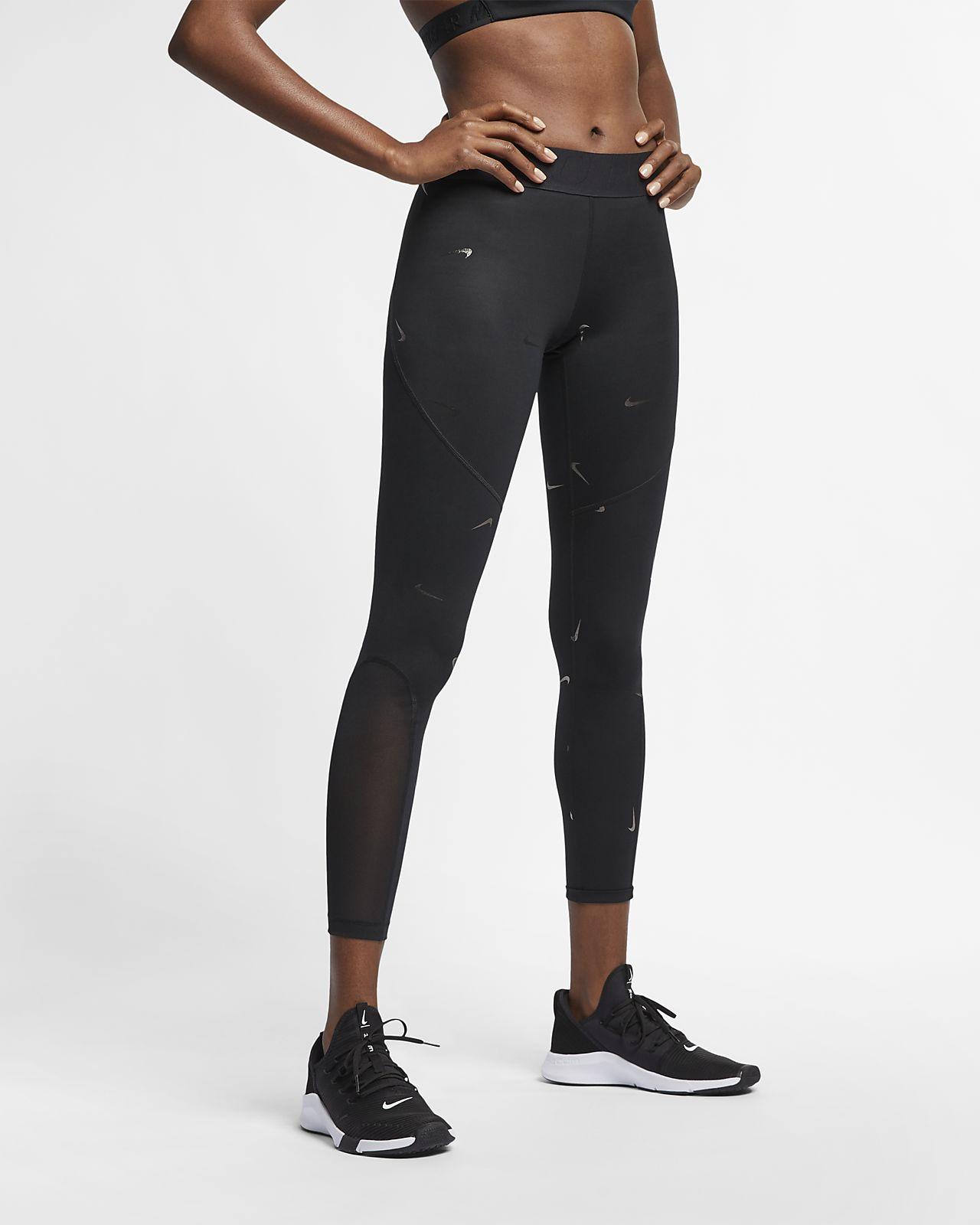 Tights Nike Pro med metallictryck för kvinnor