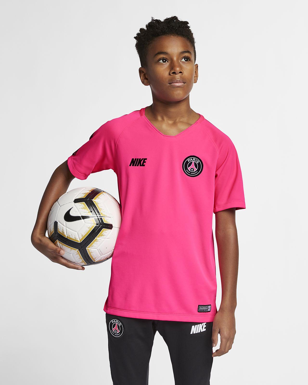 Koszulka piłkarska z krótkim rękawem dla dużych dzieci Nike Breathe Squad