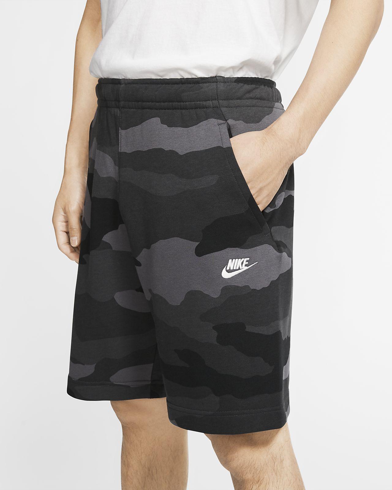 ナイキ スポーツウェア クラブ メンズ フレンチ テリー カモ ショートパンツ