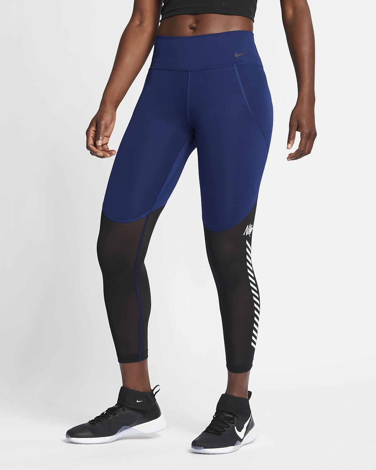 กางเกงรัดรูปเทรนนิ่ง 7/8 ส่วนผู้หญิงมีกราฟิก Nike One