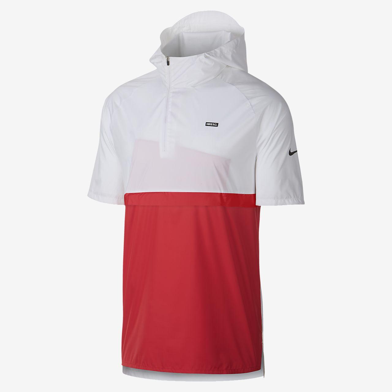 Nike F.C. 男子短袖连帽足球夹克