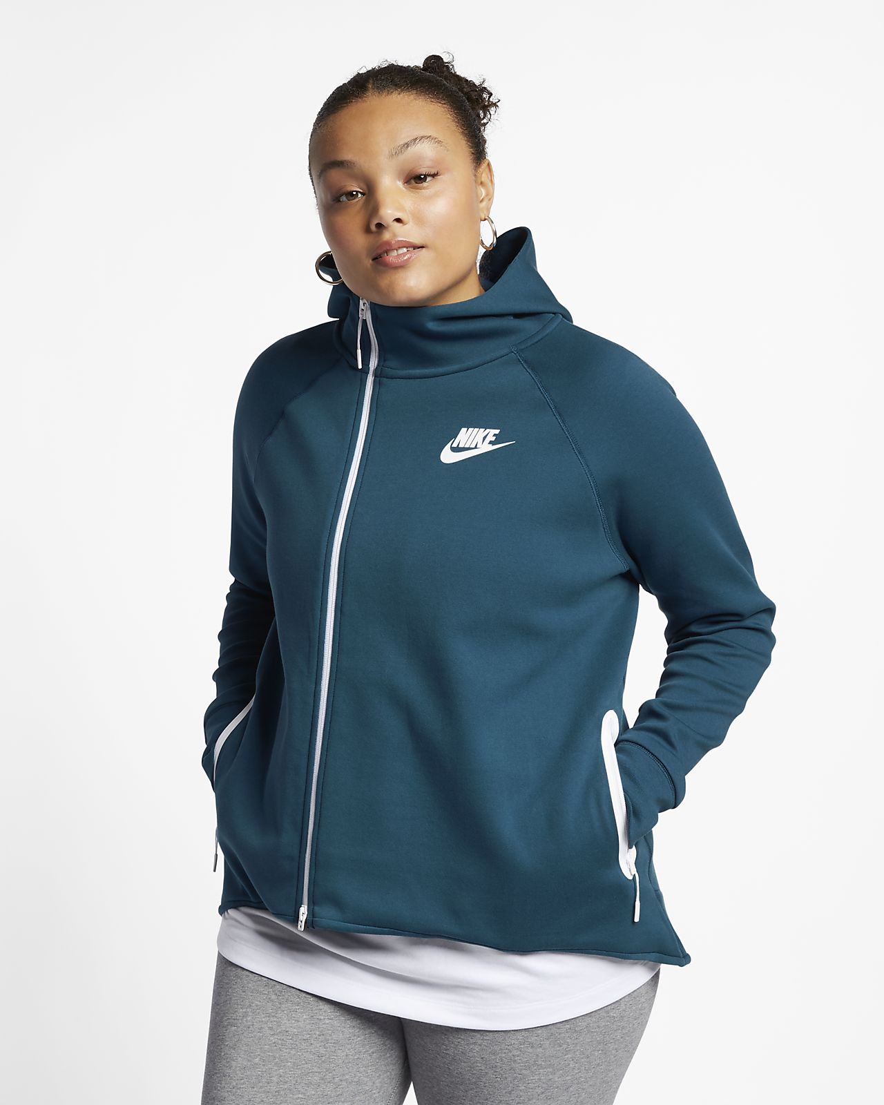Nike Sportswear Tech Fleece Women's Full-Zip Cape (Plus Size)
