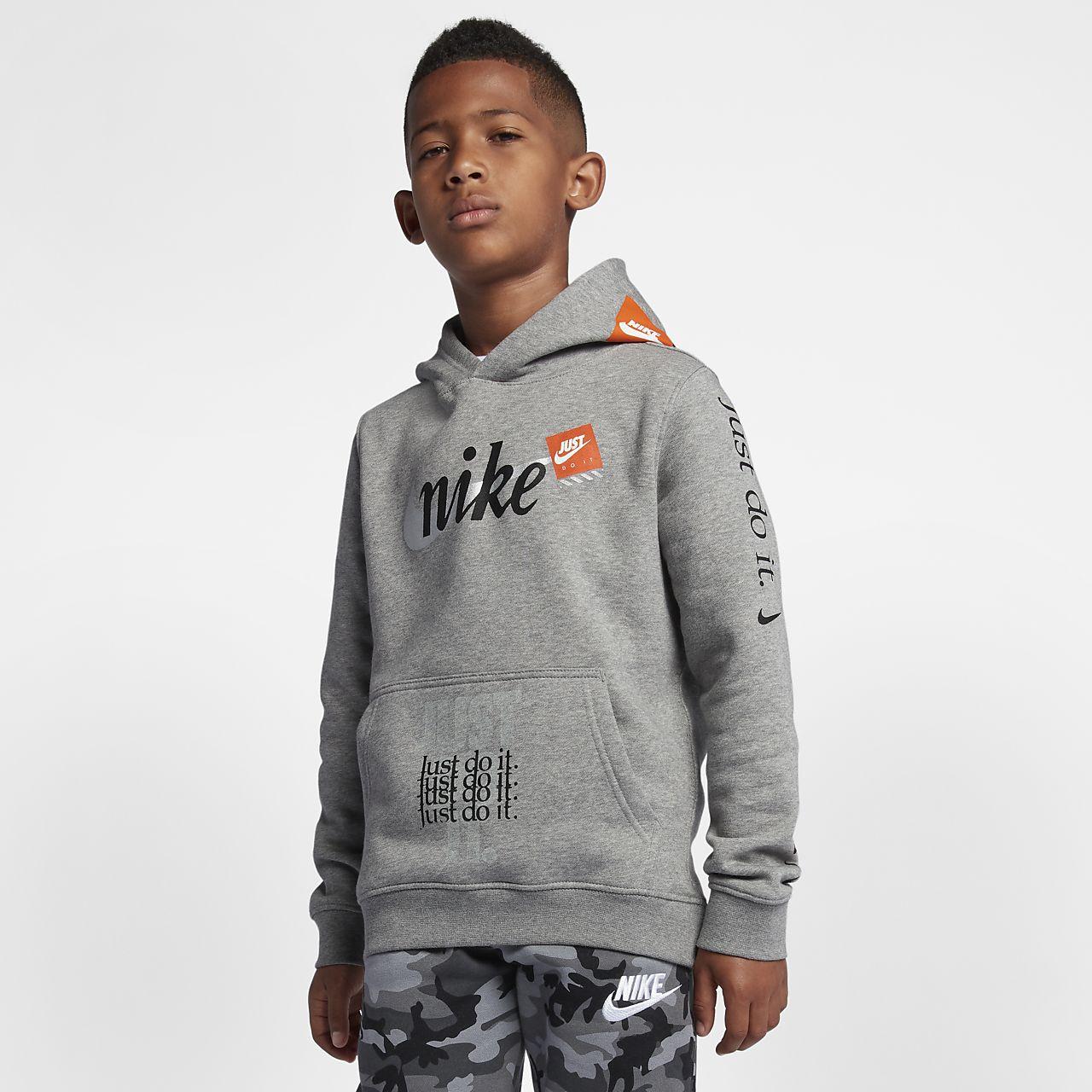 Nike Sportswear Big Kids' (Boys') Just Do It Pullover Hoodie