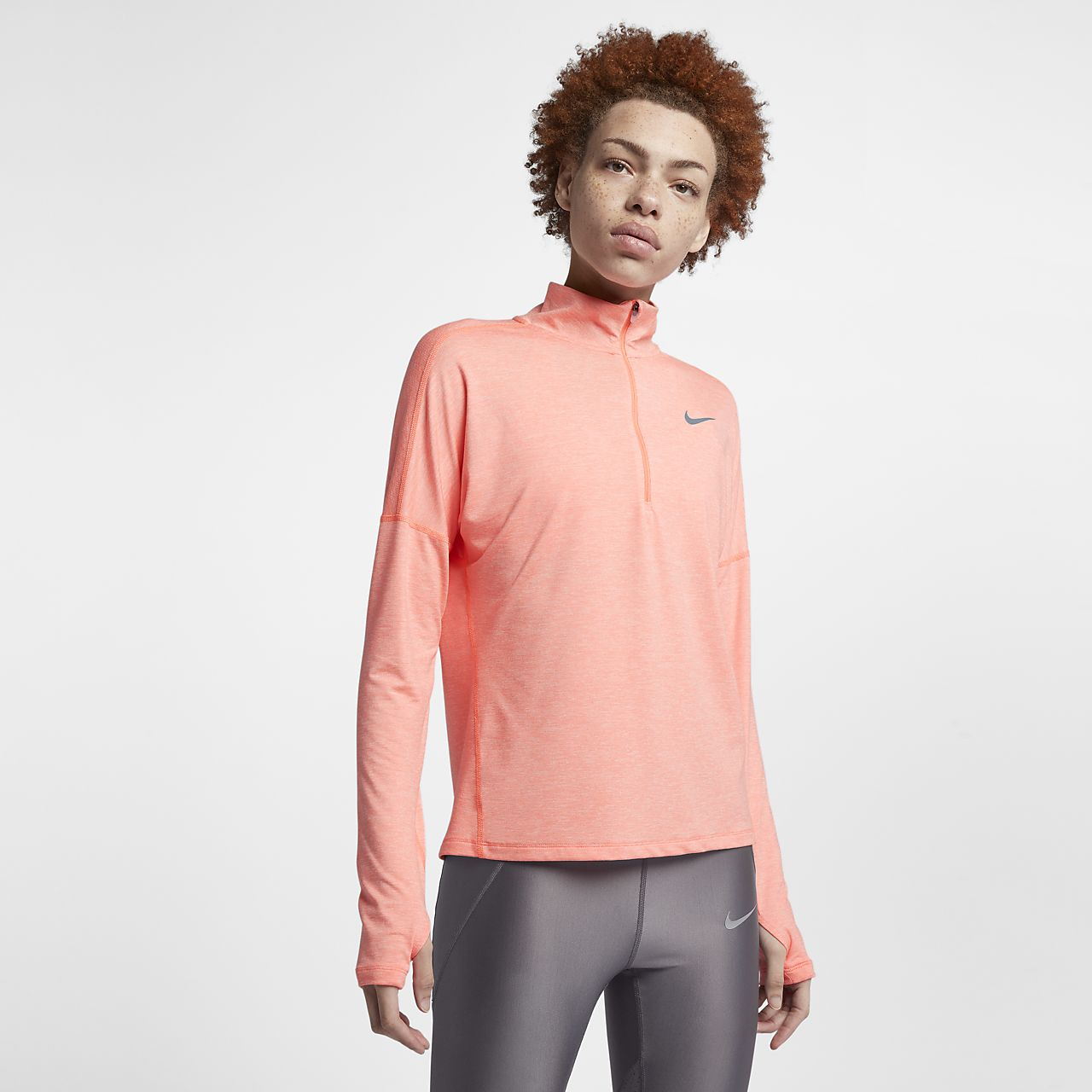 ... Nike Dri-FIT Element Women's Long Sleeve Running Half-Zip Top