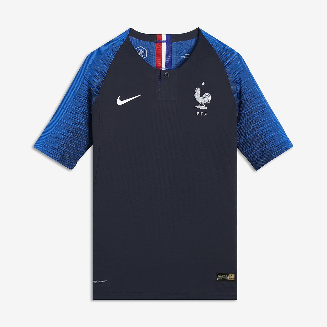 0c309df9fd4e2 Camiseta de fútbol para niños talla grande 2018 FFF Vapor Match Home ...