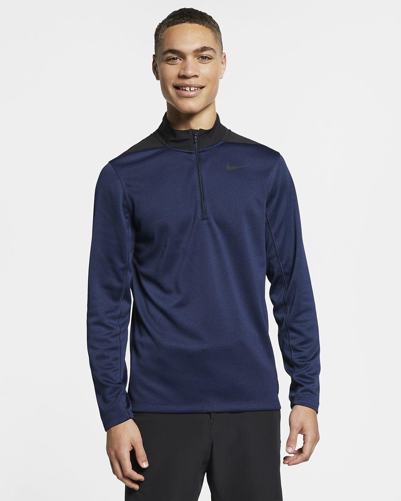 Nike Dri-FIT 1/2 golfoverdel med glidelås til herre