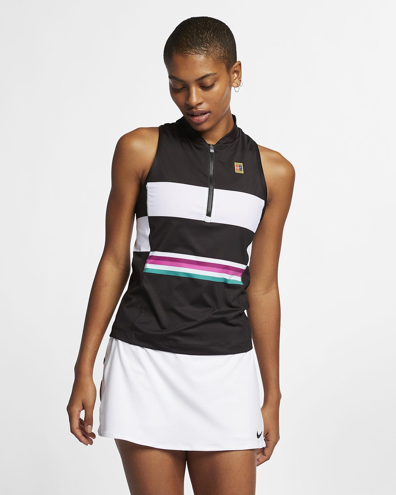 NikeCourt Power Slam-tennistanktop med print til kvinder