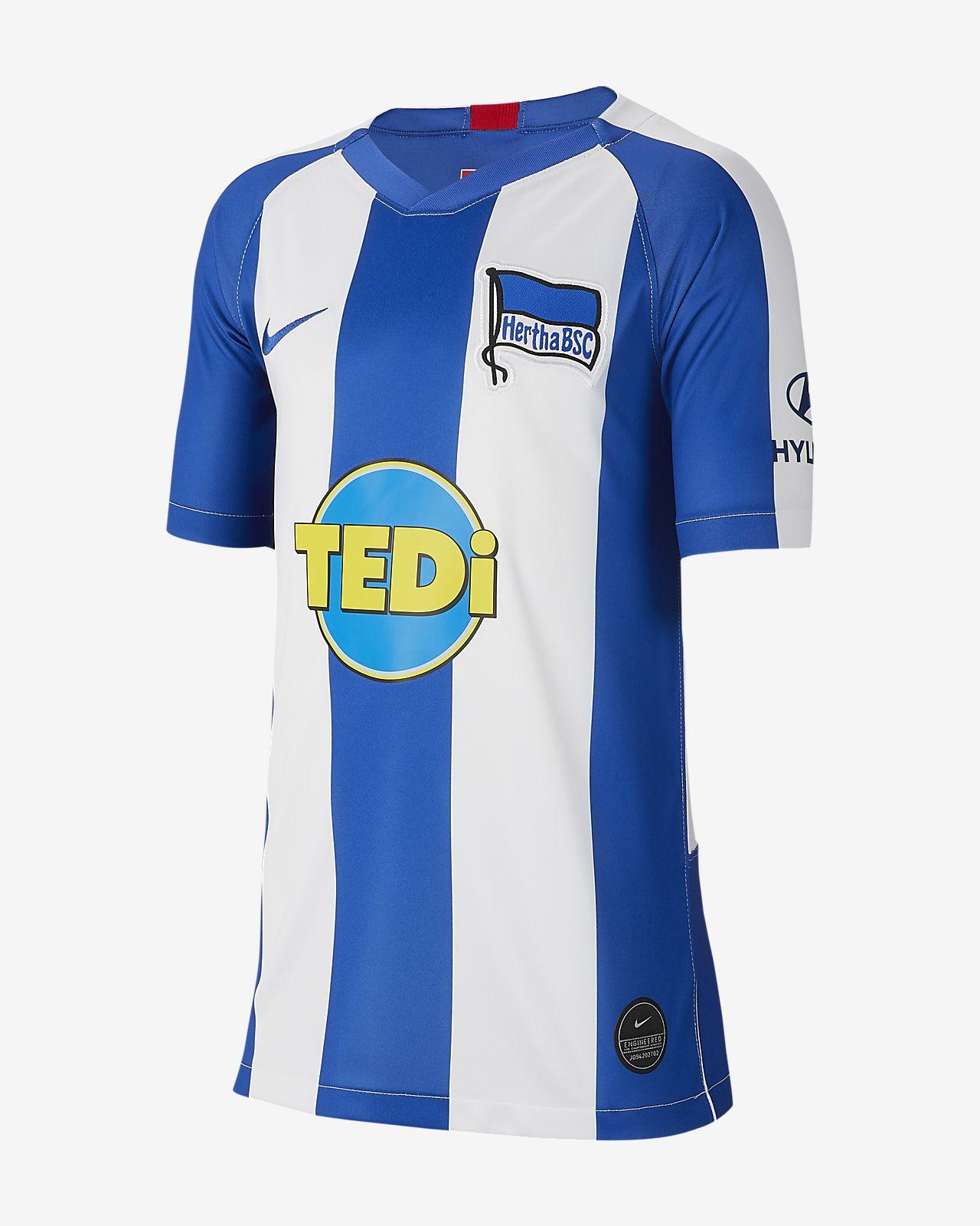 Hertha BSC 2019/20 Stadium Home Voetbalshirt voor kids