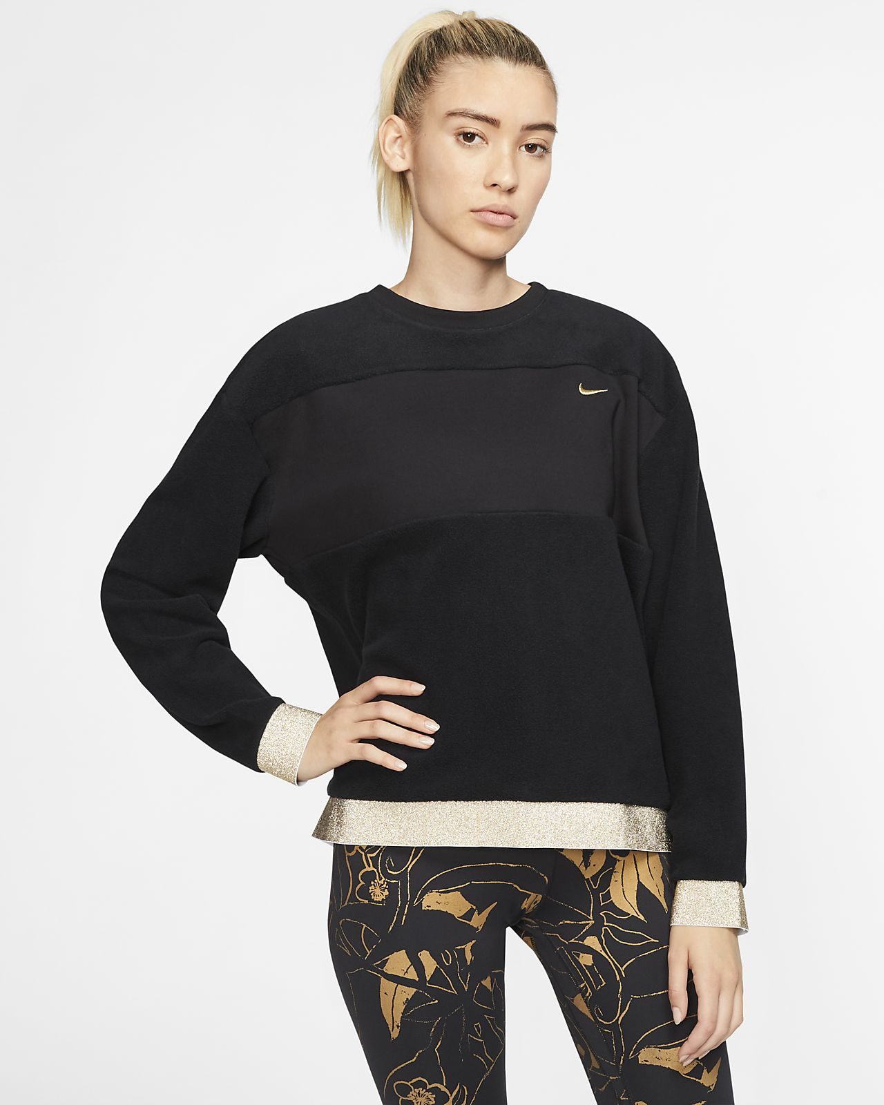 Nike Therma Icon Clash Women's Fleece Training Crew