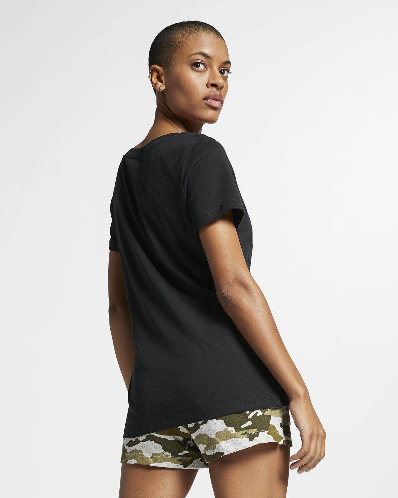 tee shirt noir nike femme