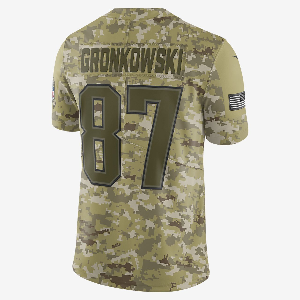 6ce28cb0f ... NFL New England Patriots Salute to Service (Rob Gronkowski) Big Kids   Football Jersey