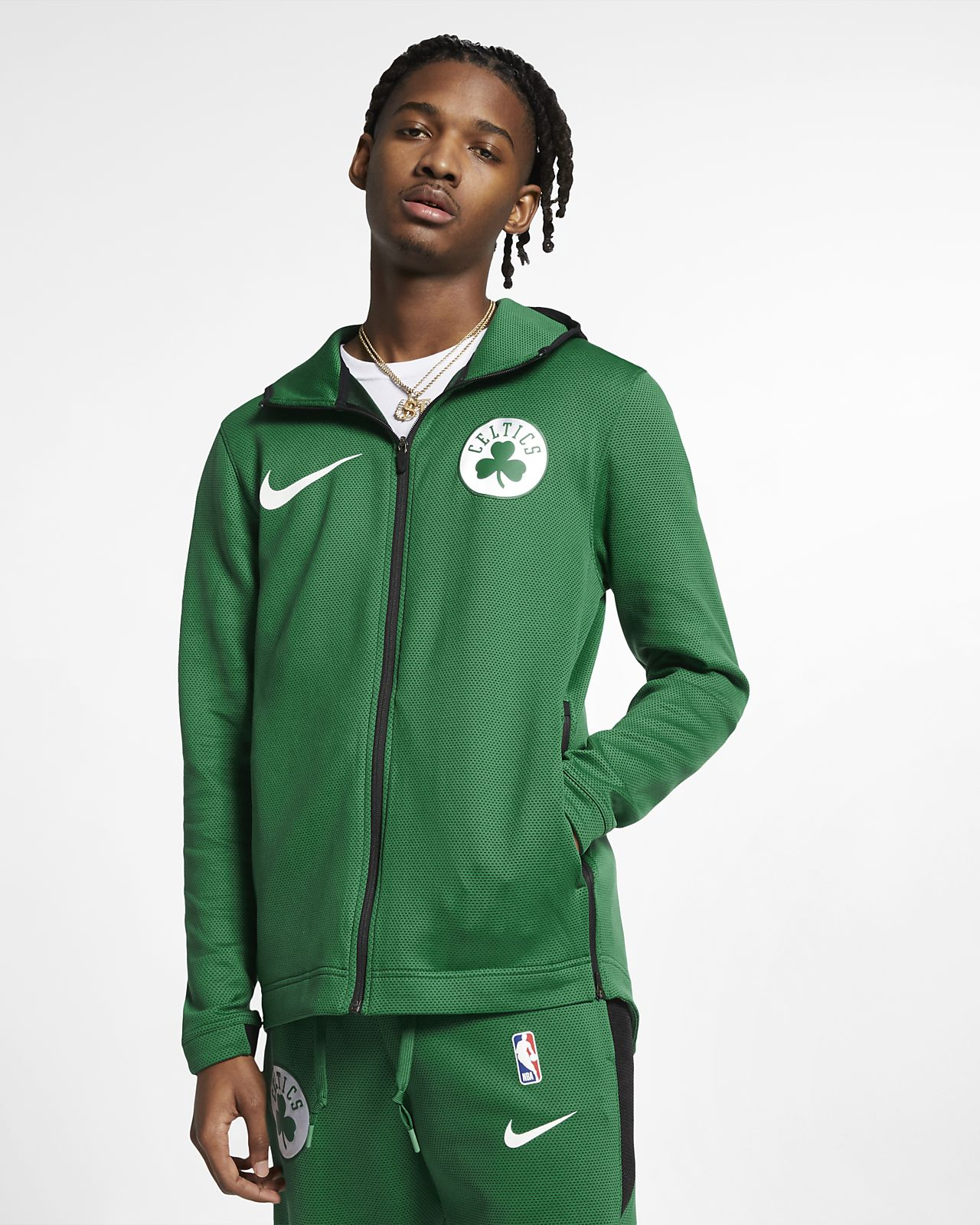 Мужская худи НБА Boston Celtics Nike Therma Flex Showtime