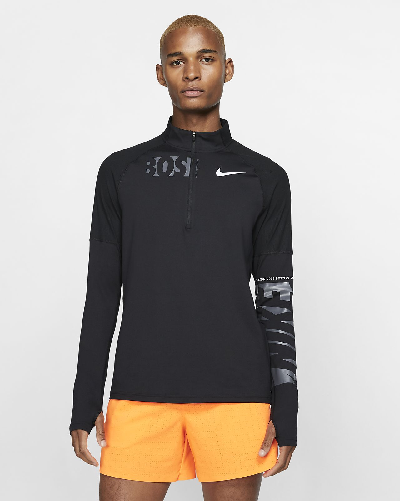 6a584814483b Nike Dri-FIT Element (Boston 2019) Men s 1 2-Zip Running Top. Nike.com