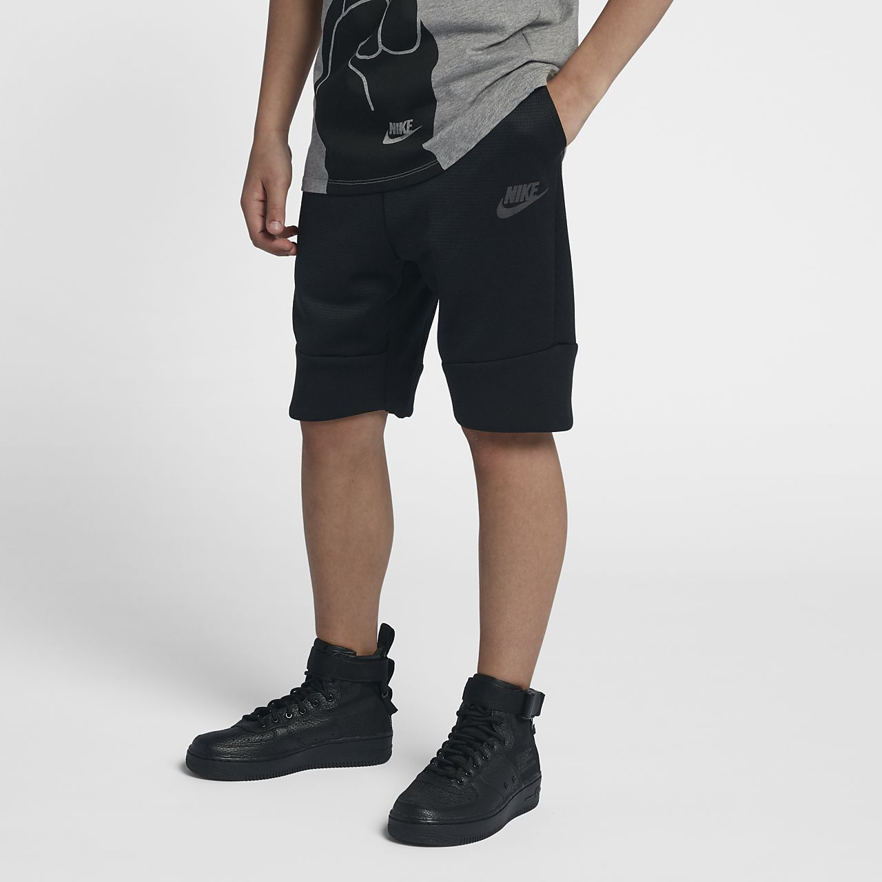 Nike Lab Essentials Tech Fleece Shorts SchwarzSchwarz  Shorts