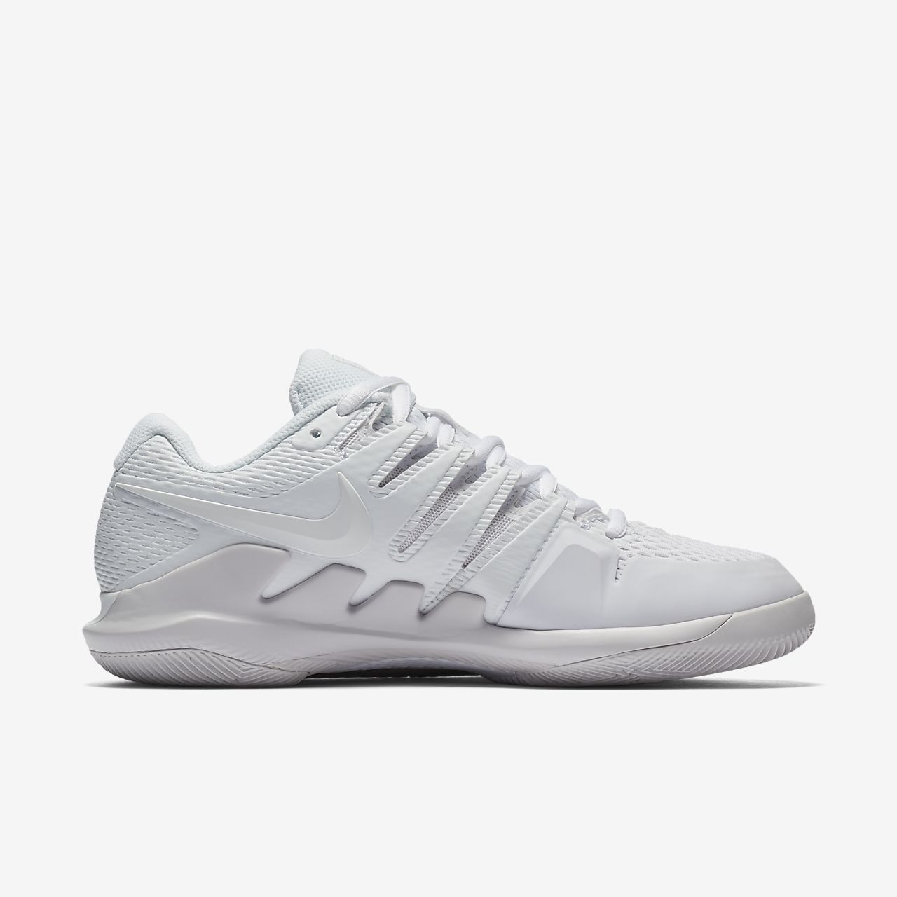 Nike Performance AIR ZOOM VAPOR X HC - Outdoor tennis shoes - white/vast grey 9vL0b8Zc