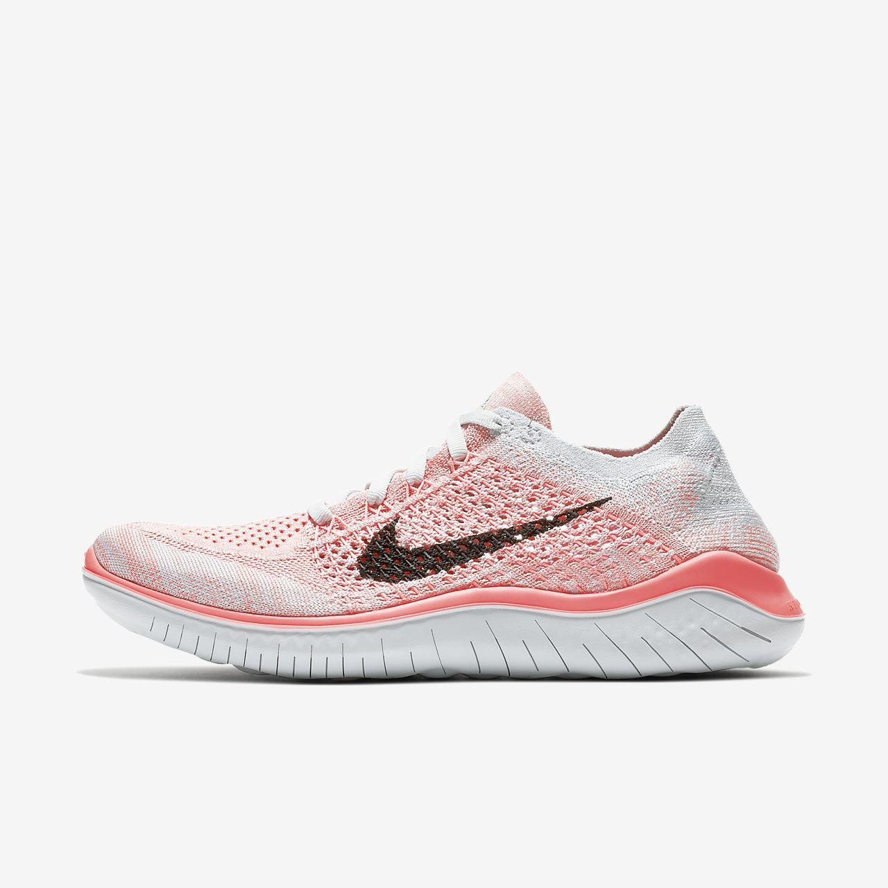 Nike Free RN Flyknit Damen Laufschuhe schwarz