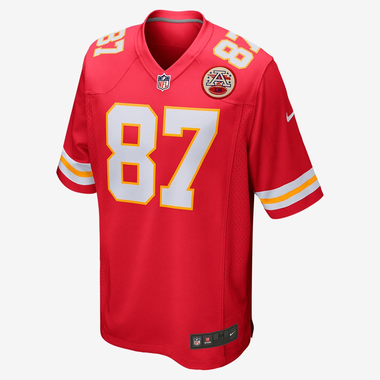 NFL Kansas City Chiefs (Travis Kelce) spillerdrakt til amerikansk fotball for herre