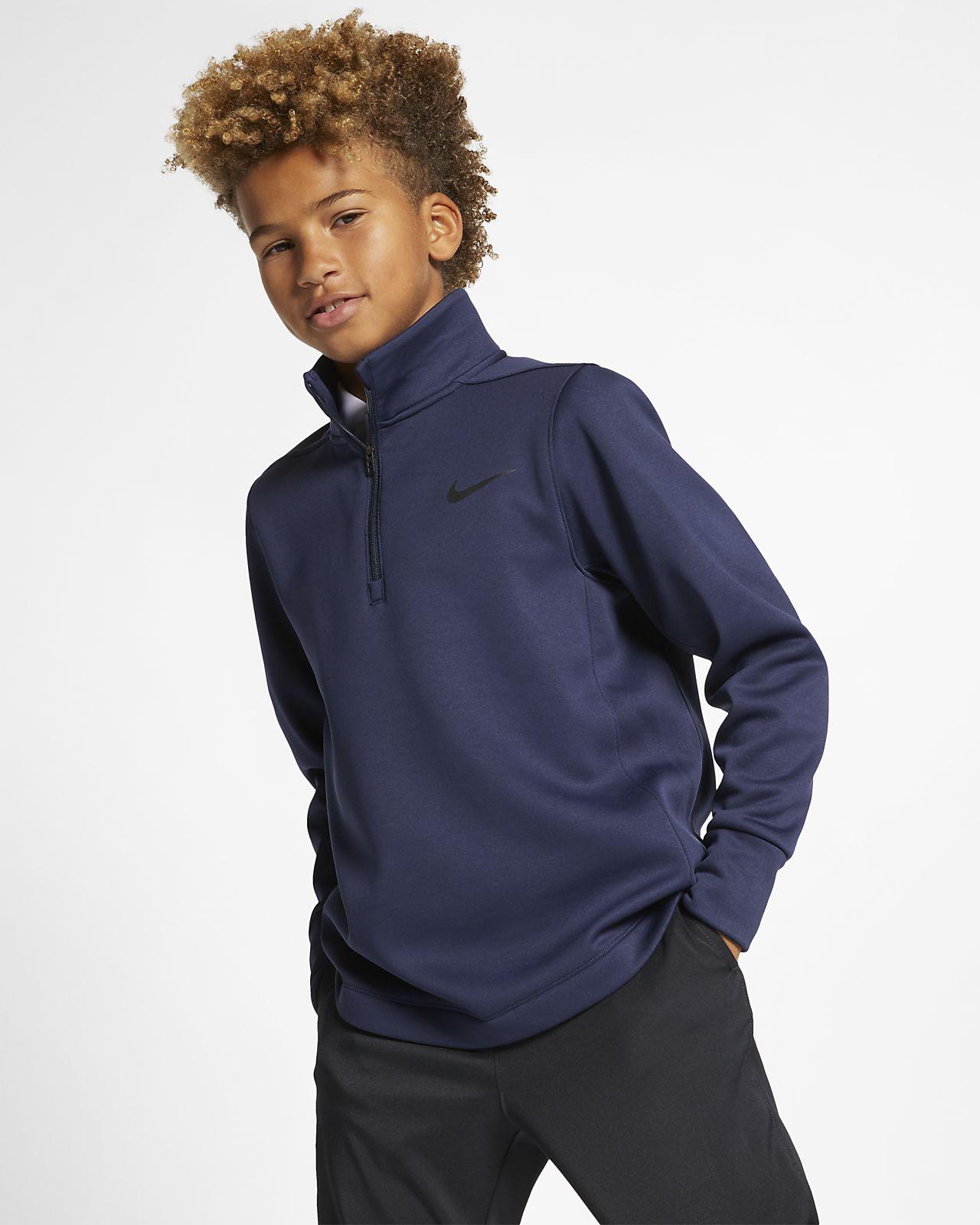 Nike Dri-FIT Therma Big Kids' (Boys') Half-Zip Golf Top