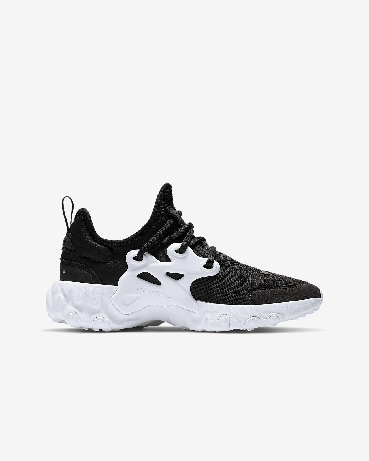 fe15eab7c1 Nike React Presto-sko til store børn