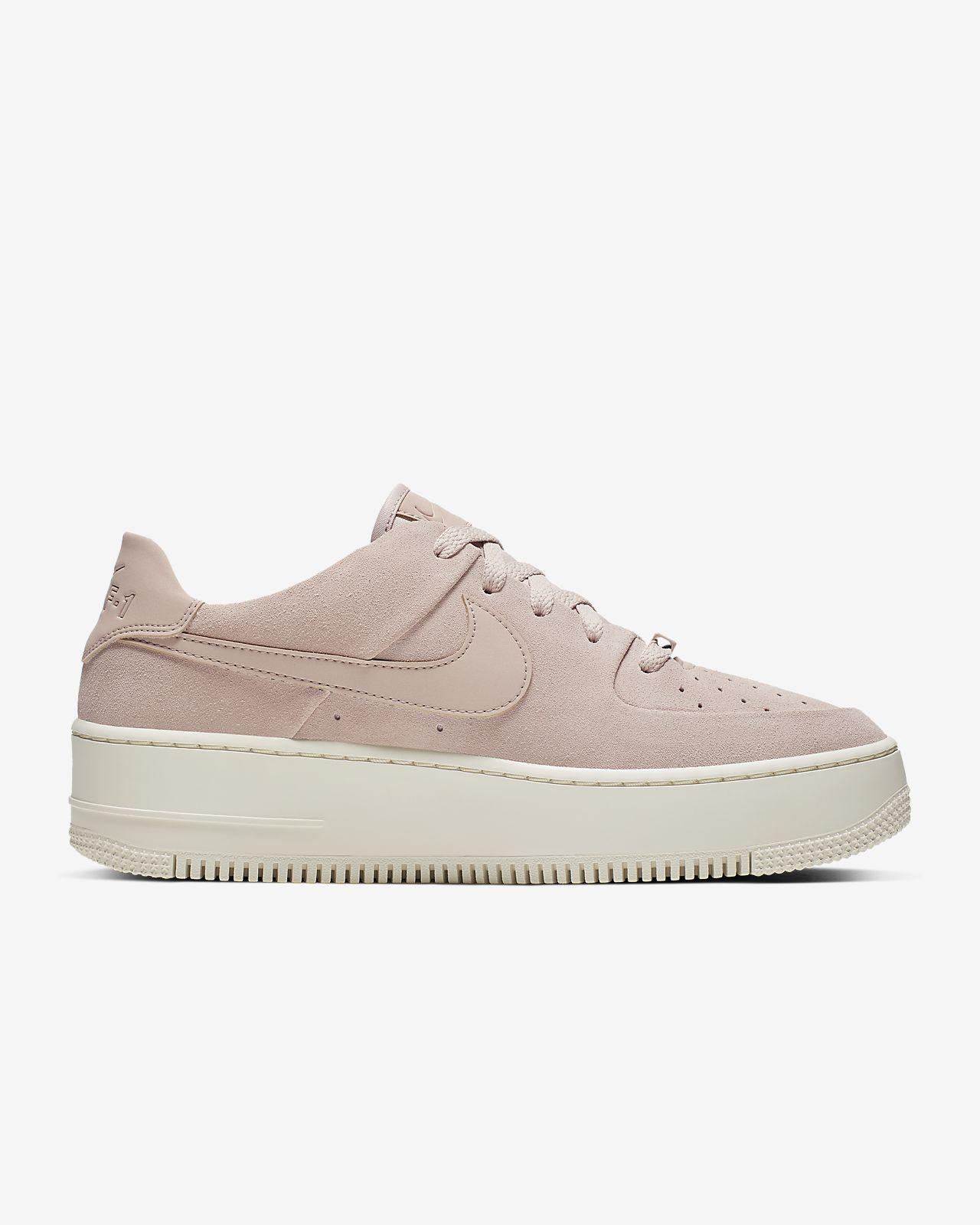 Nike Air Force 1 Af1 W Shadow Pastel Pale Ivory Pink Purple UK 5.5