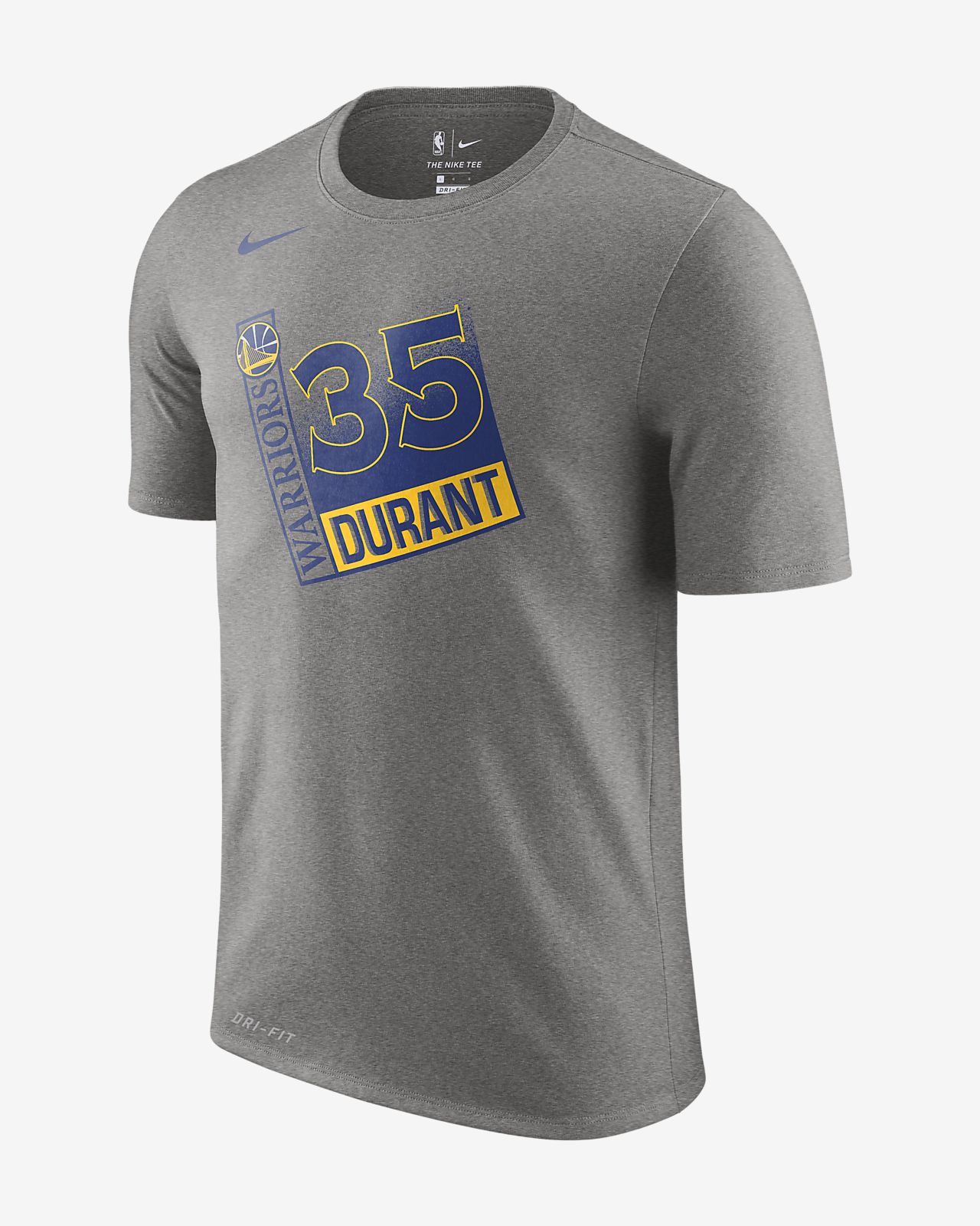 Kevin Durant Golden State Warriors Nike Dri-FIT 男款 NBA T 恤