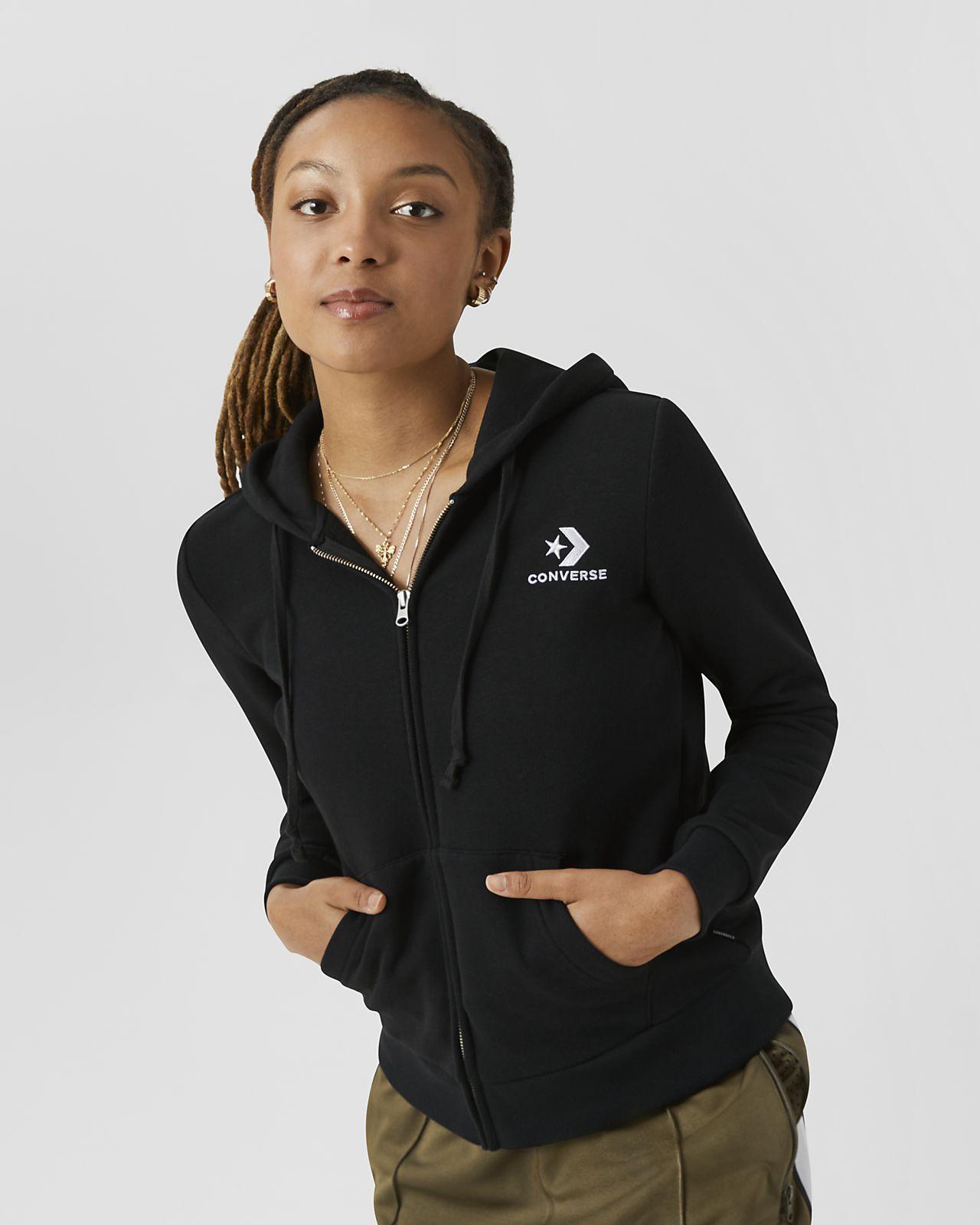 Converse Star Chevron Embossed  Women's Full-Zip Hoodie
