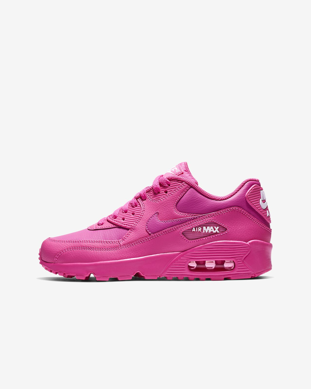 Nike Air Max 90 Leather Big Kids' Shoe
