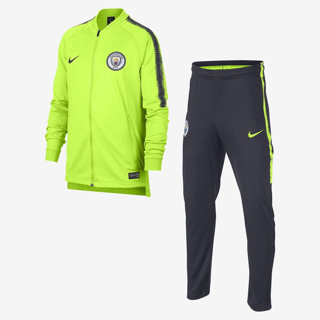 Manchester City Dri-FIT Squad Fußball-Trainingsanzug für ältere Kinder