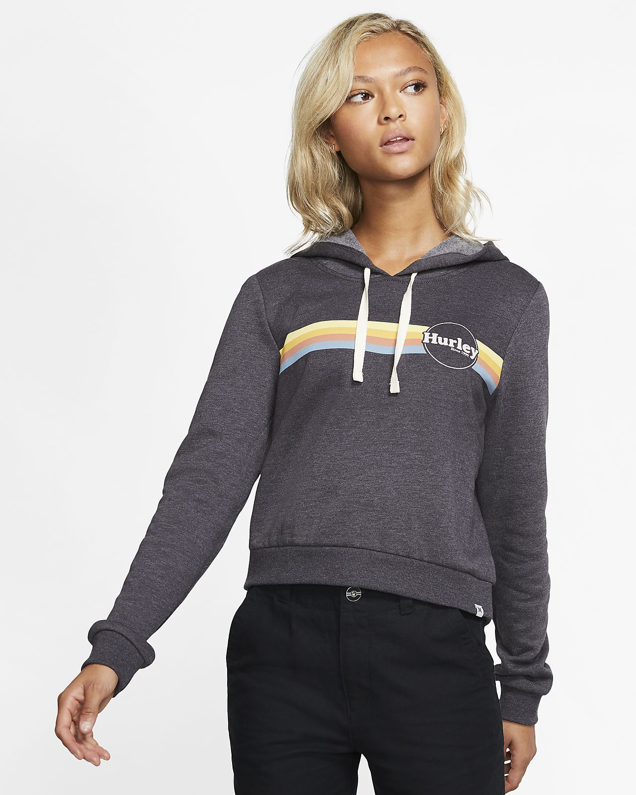 Hurley Jammer Stripe Perfect Women's Cropped Fleece Pullover