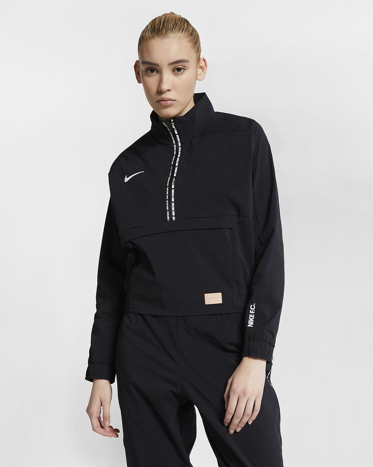 Camisola de futebol de manga comprida Nike F.C. para mulher