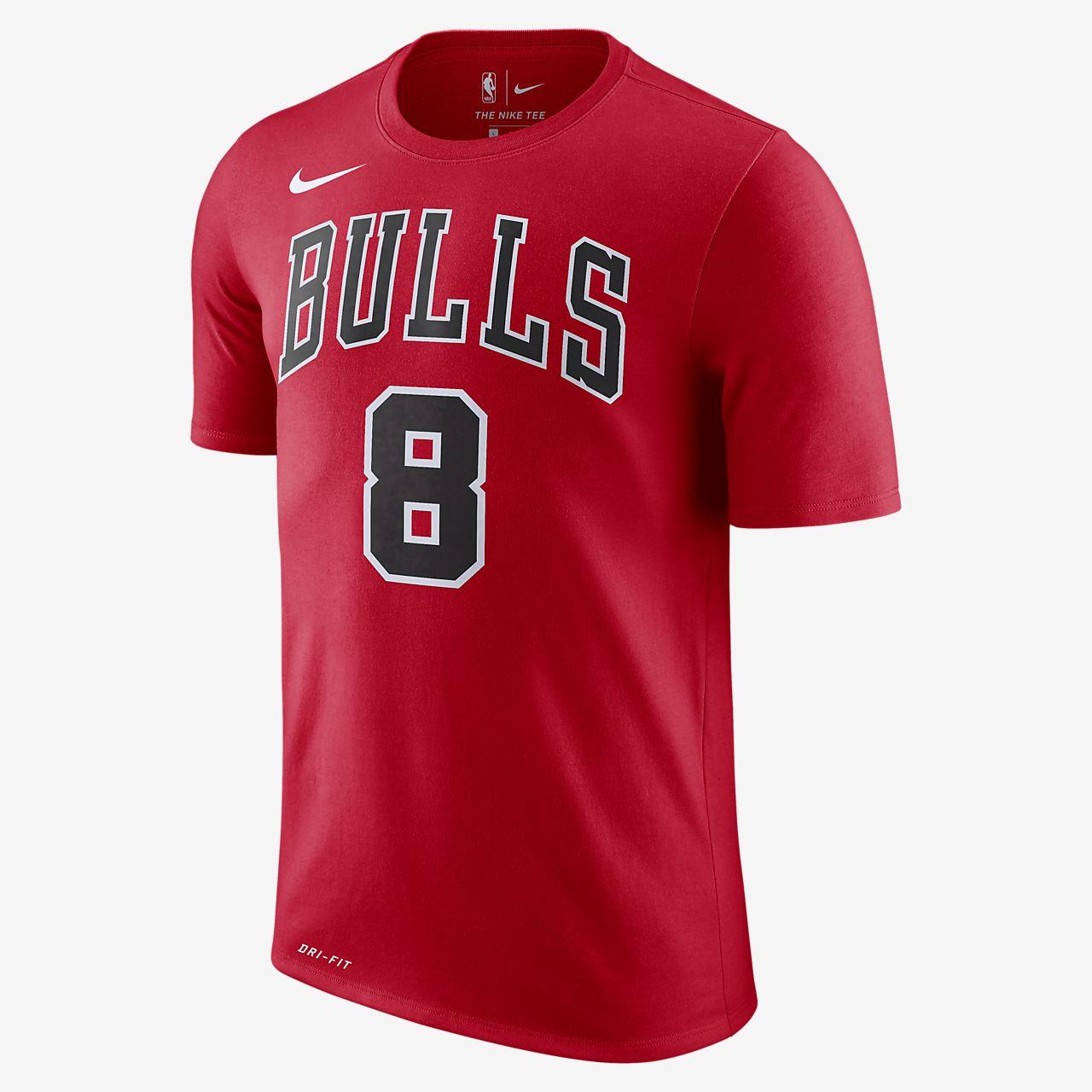 Nba Pour Nike Fit Tee Lavine Shirt Zach Homme Bulls Chicago Dri w57q1C