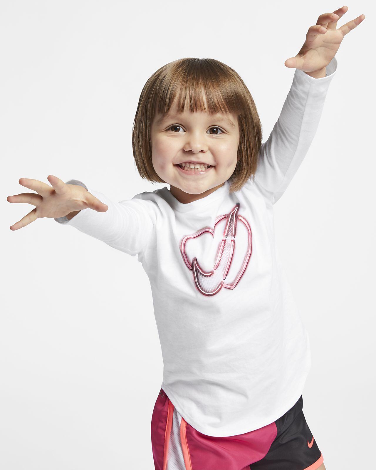 Nike Langarm-T-Shirt für Kleinkinder