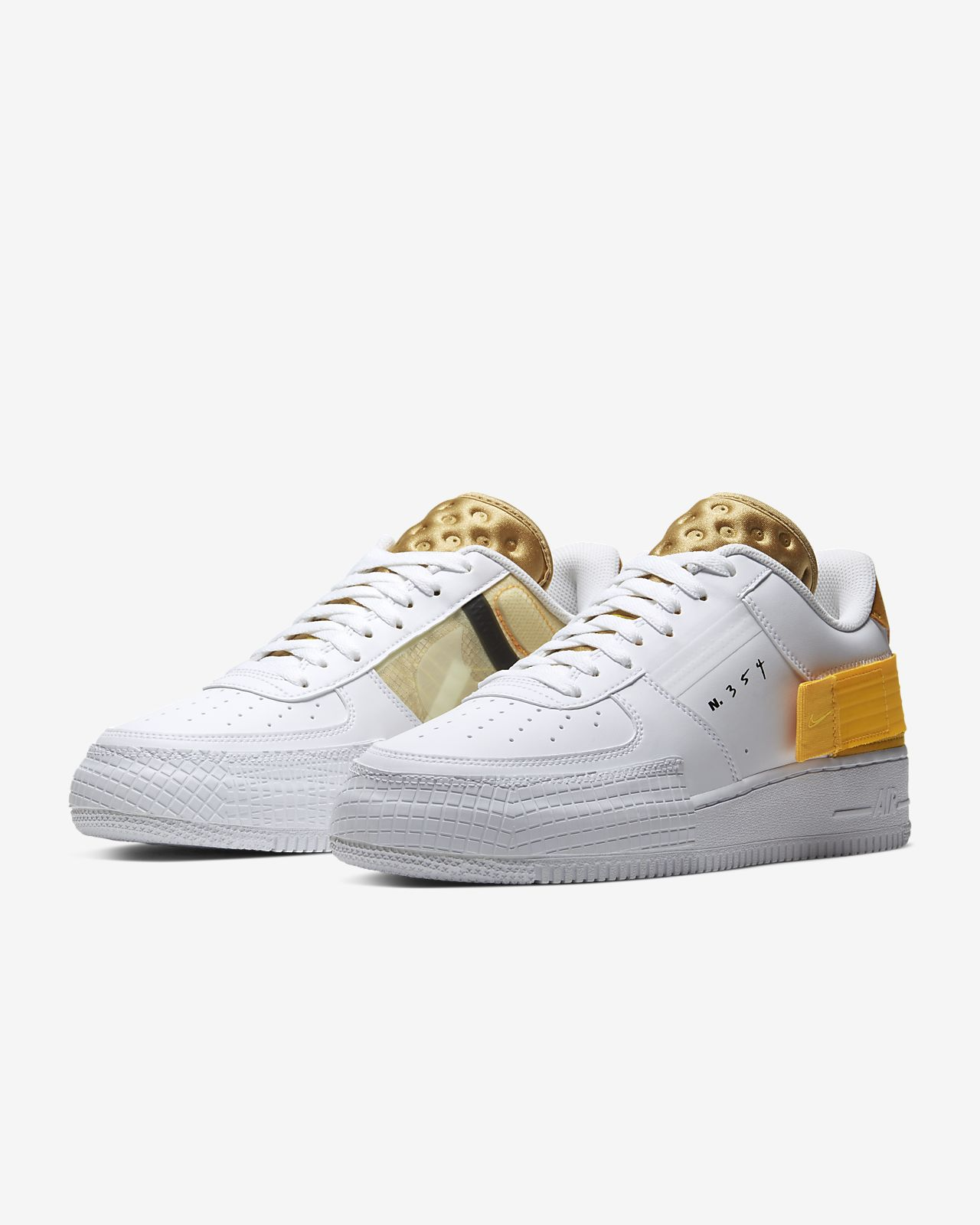 Nike Air Force Gold White design im