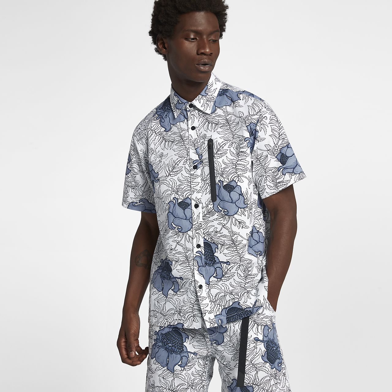 NikeLab Collection 男款短袖花卉印花上衣