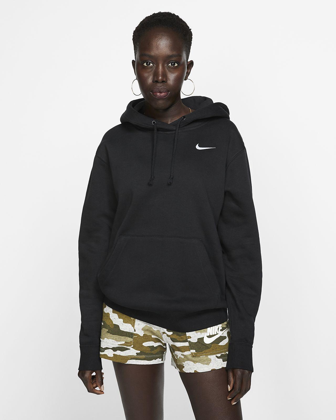 Nike Felpa In Donna Con Cappuccio Fleece Sportswear