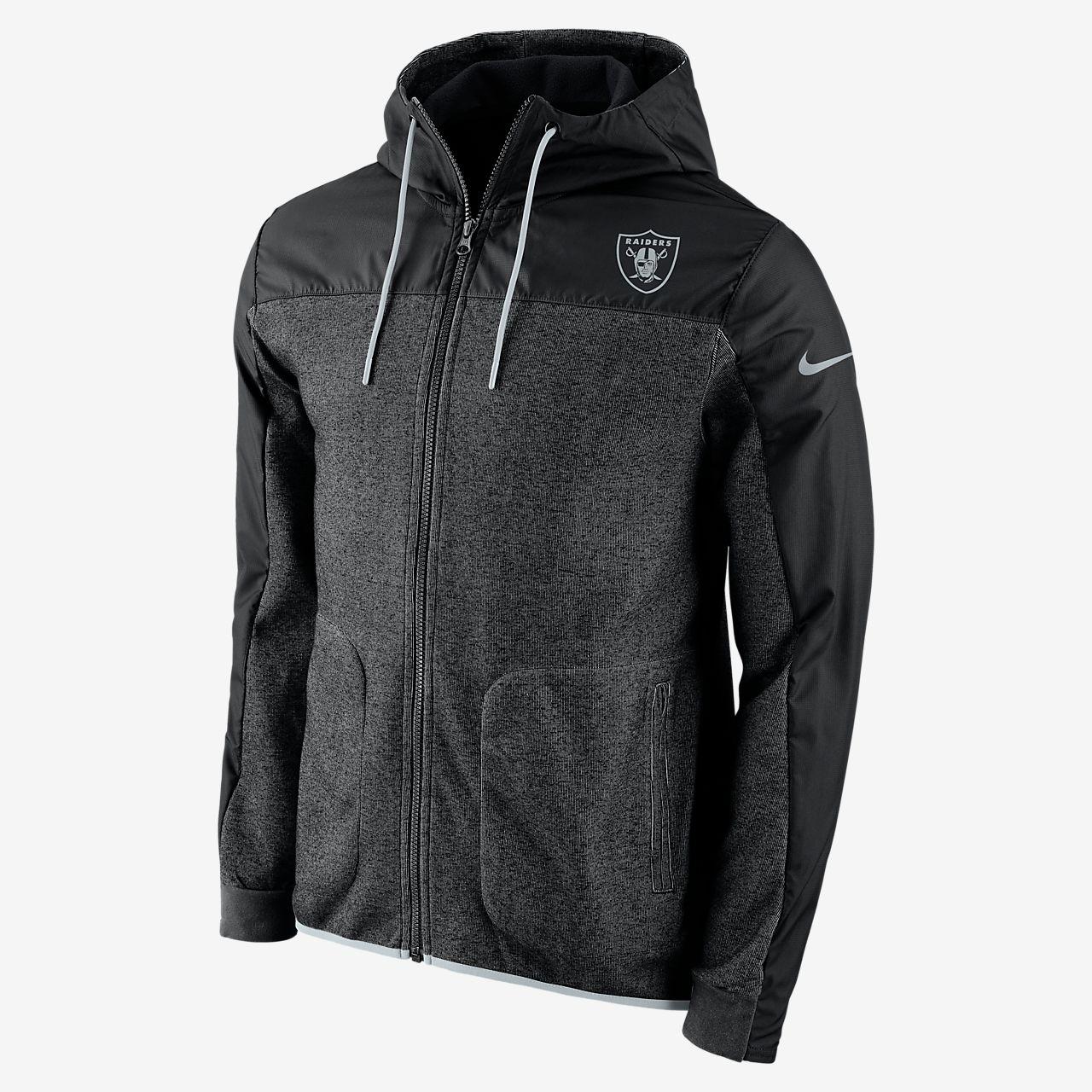 Men's Black Nike AV15 Hooded Jacket OU444271v