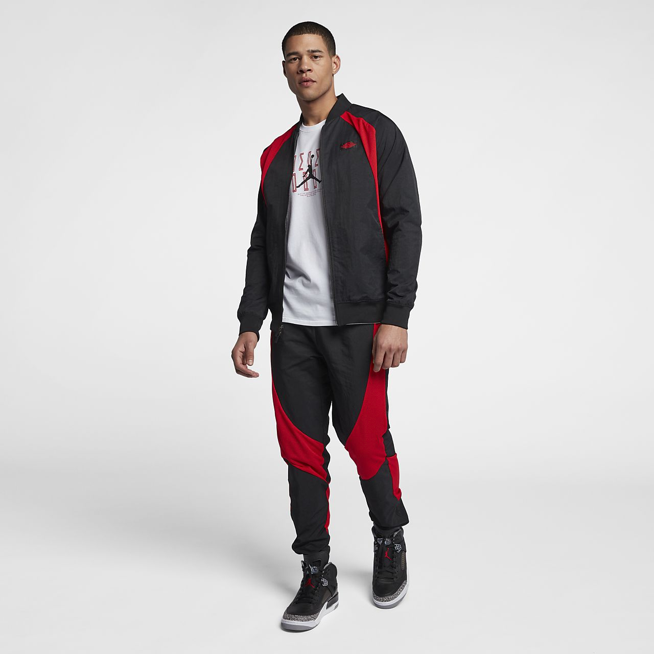 Air Jordan 1 Mens Chaqueta Roja