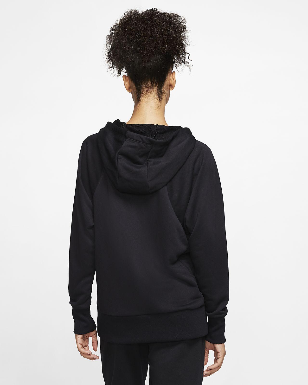 Nike Dri FIT Get Fit Fleece Trainings Hoodie mit durchgehendem Reißverschluss für Damen